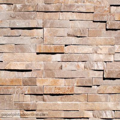 papel para pareds imitación piedra ocres y marrones 1033