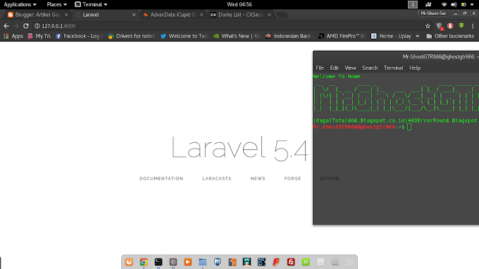 Cara Install Framework PHP Laravel Versi 5.4 Di Kali Linux