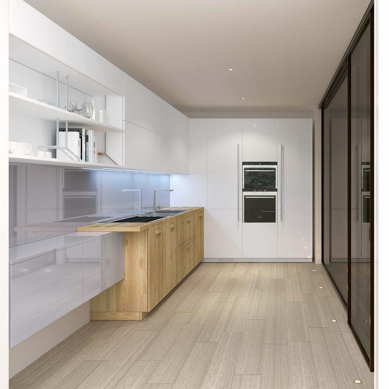 cuisine couloir. Black Bedroom Furniture Sets. Home Design Ideas