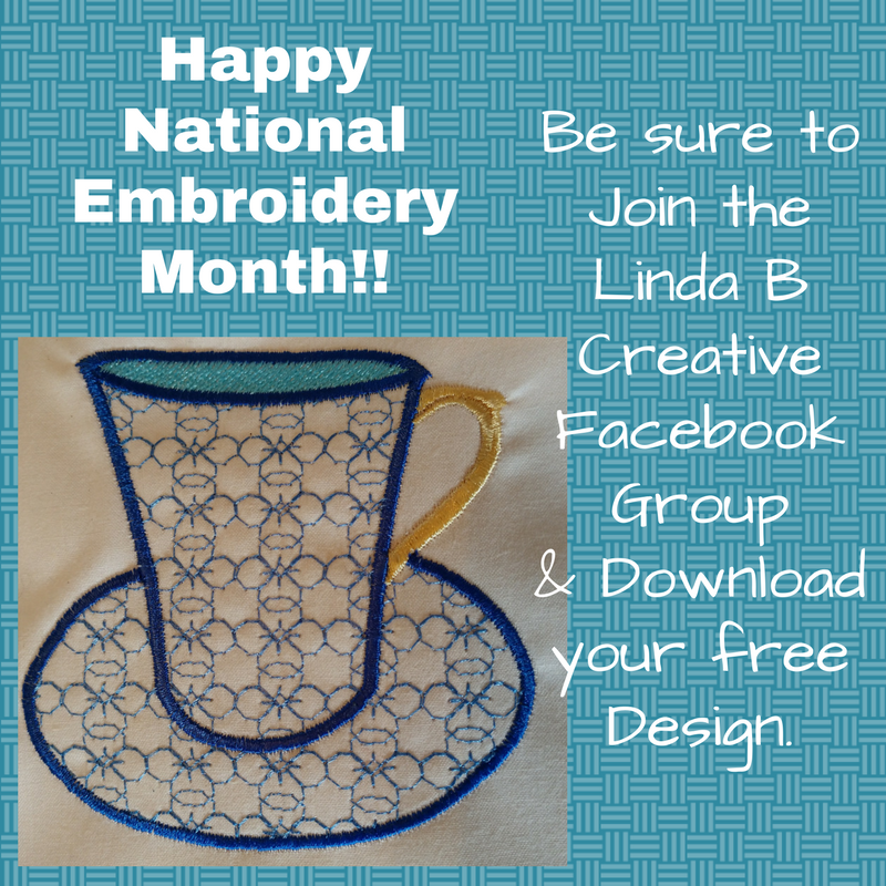 Linda B Creative Happy National Embroidery Month