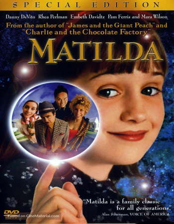 Poster Of Matilda 1996 Hindi Dual Audio 140MB  HEVC Mobile  Free Download Watch Online 300mb.cc
