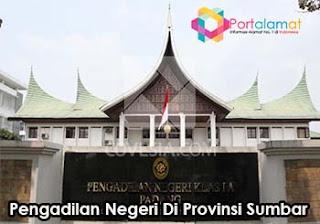 Alamat Pengadilan Negeri Di Provinsi Sumatera Barat