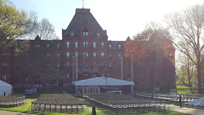 the sun shone on the Dean campus on Friday  and the rains came for graduation on Saturday