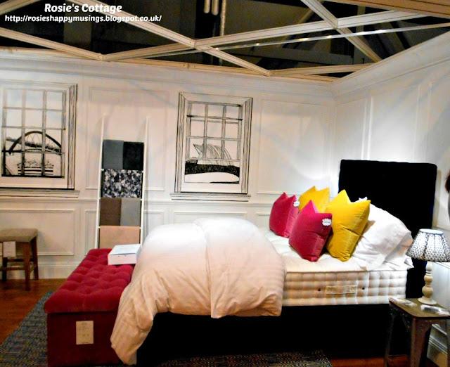 Bedroom display with Glasgow landmark window art