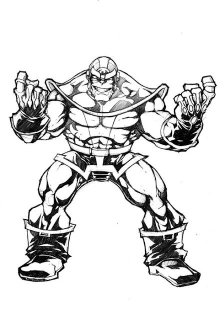 Ausmalbilder Thanos Thanos zum