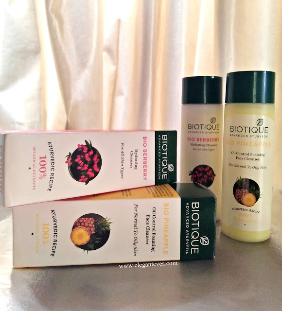 Review of Biotique Bio Pineapple Cleanser and Bio Berberry Cleanser