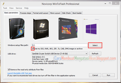 cara membuat bootable flashdisk windows 7