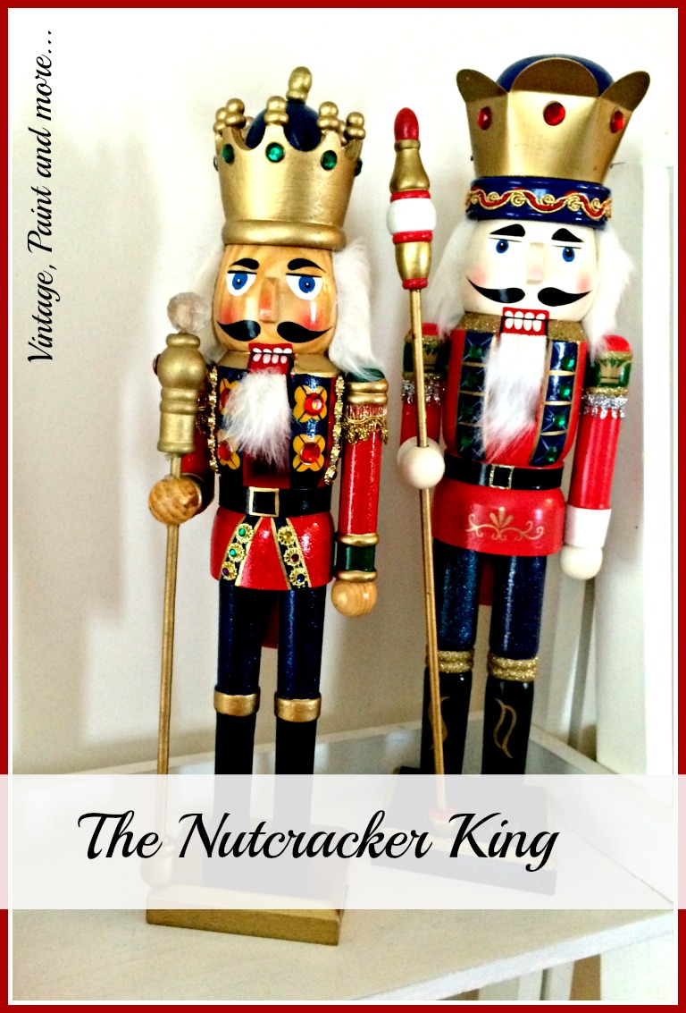 Vintage, Paint and more... vintage nutcrackers used in Christmas decor along with other vintage and diy'd pieces