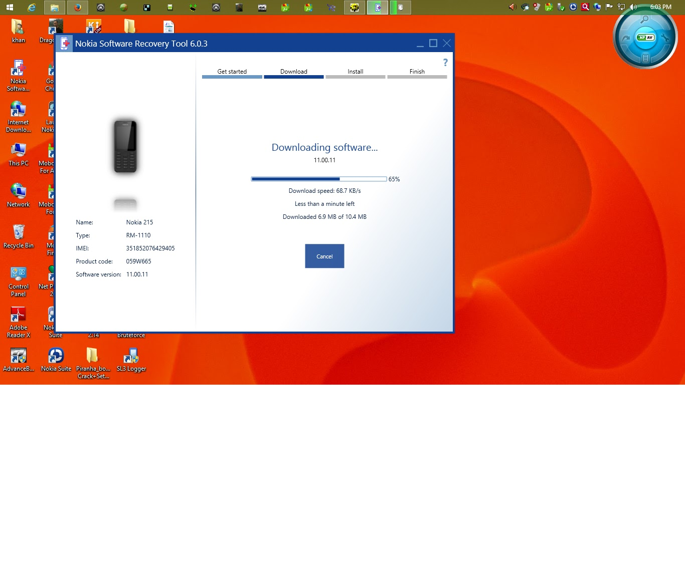 succesfull unlock & flash nokia 215 rm-1110 + mtk-6260