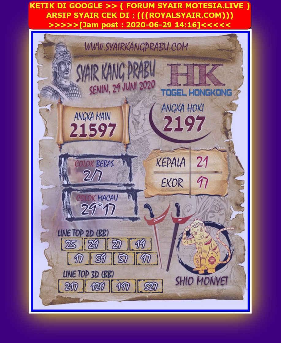 Kode syair Hongkong Senin 29 Juni 2020 237