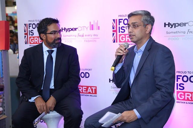 Mr. Kumar Iyer, British Deputy High Commissioner to Mumbai and Mr. Ramesh Menon, Chief Executive Officer, HyperCITY at the inaguration of Tastes of Britain