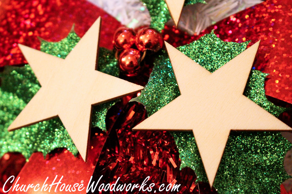 Rustic 4 weddings wooden star ornaments christmas diy for Wood crafts to make for christmas