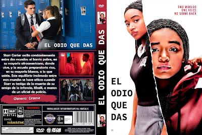 CARATULA EL ODIO QUE DAS - THE HATE U GIVE - 2018 - [COVER DVD]