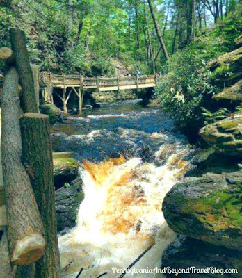 Bushkill Falls in the Pocono Mountains Pennsylvania