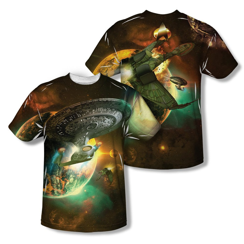 Star Trek Klingon Uniform Costume Allover Sublimation Licensed Adult T Shirt