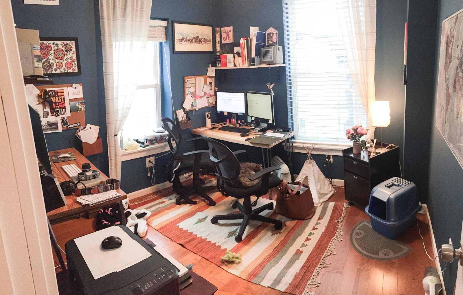 All We Needed For This Home Office Makeover Was A Custom Desk To Turn A  Cluttered Catch All Room Into A Bright And Airy Study!