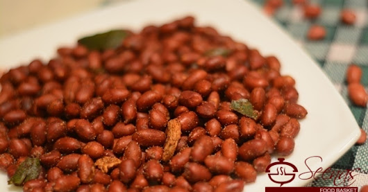 Spicy Roasted Peanuts Recipe / Kerala Style Easy Spicy Salted Roasted Peanuts Recipe