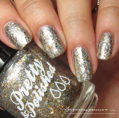 nail polish swatch of Heavy Metal by Pretty & Polished
