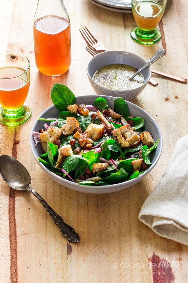 ensalada-espinacas-vinagreta-té-kombucha