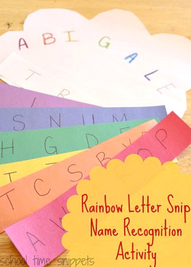 rainbow names for prescoolers