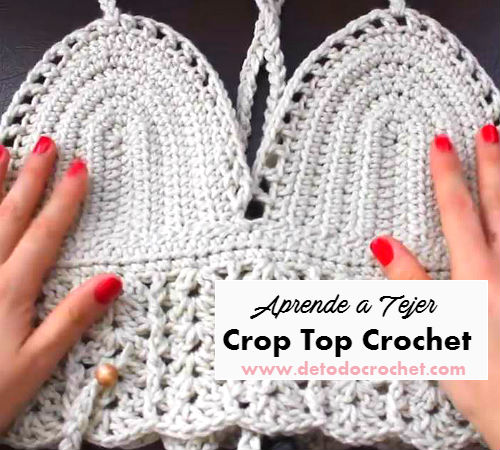 Patrones De Crop Top Crochet Fácil Tutorial