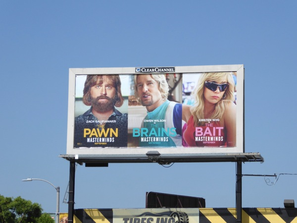 Masterminds movie billboard