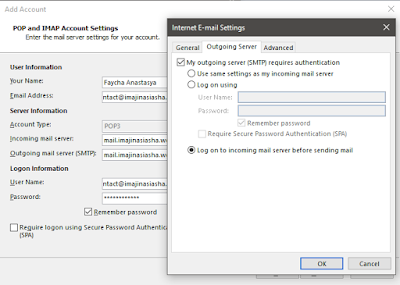 Cara setting email di Outlook