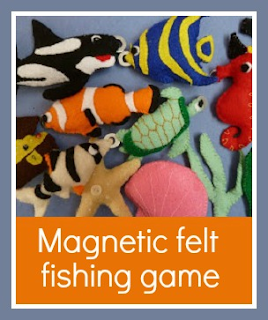 How to make a magnetic felt fishing game for children