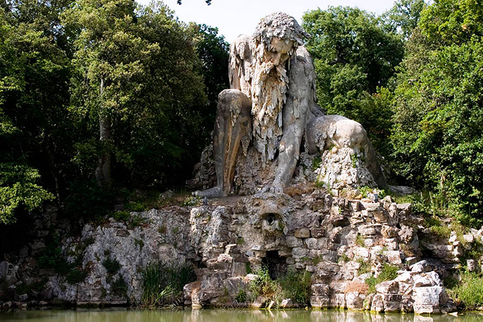 The mountain god is 35 feet tall and stands in Florence, Italy - Giant 16th-Century 'Colossus' Sculpture In Florence, Italy Has Entire Rooms Hidden Inside