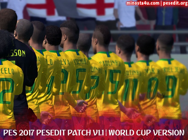 Update Patch PES 2017 dari PESEdit V1.1 WC 2018 Edition