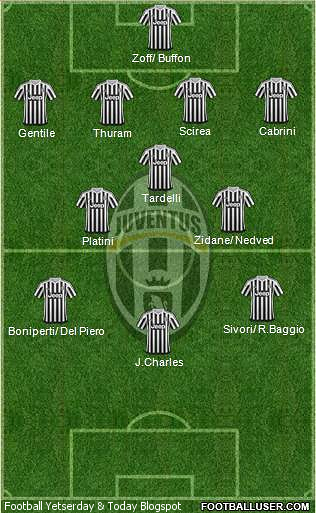 Football Yesterday Today Juventus Xi In European Cups Finals All Time Xi