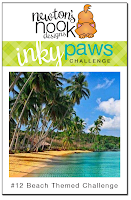 Newton's Nook Designs | Inky Paws Challenge #12 - Beach Theme