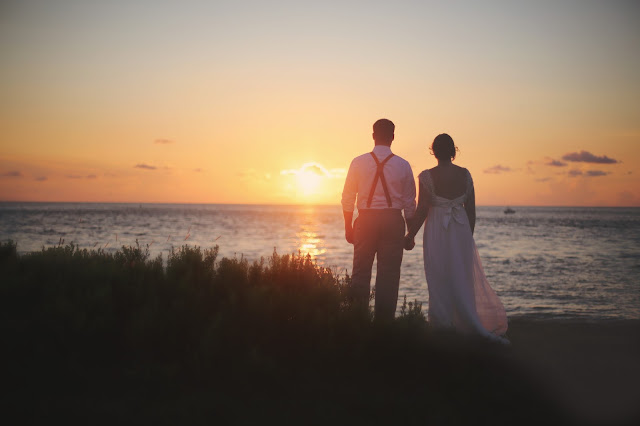 Captiva Island wedding at sunset