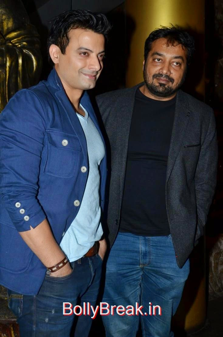 Anurag Kashyap accompanied by a friend, Richa Chadda's Birthday Party Hot Images