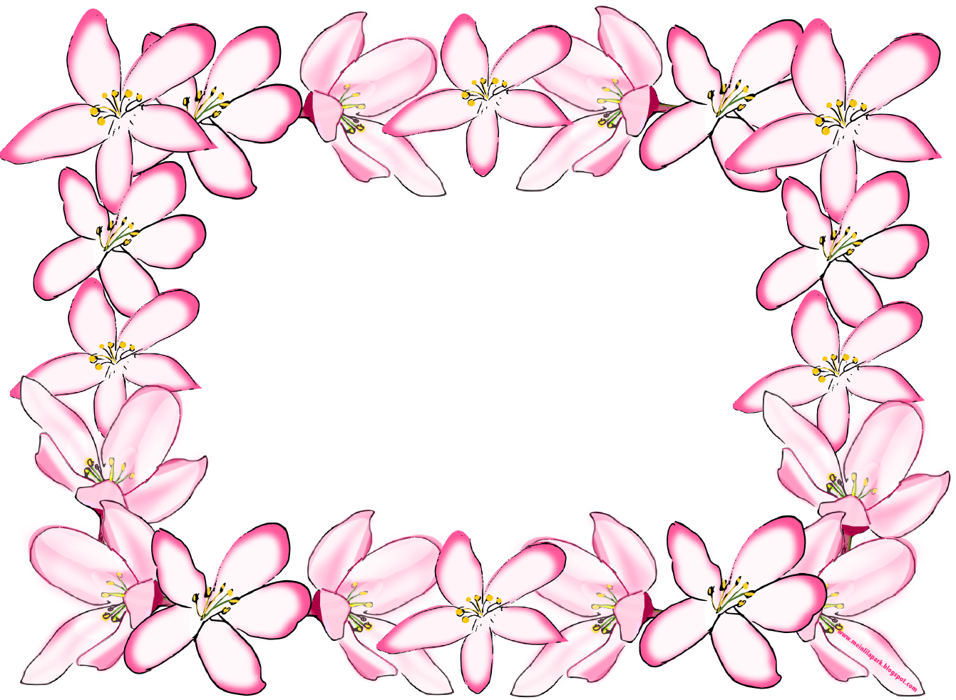 Free Digital Flower Frame Png In Vintage Design