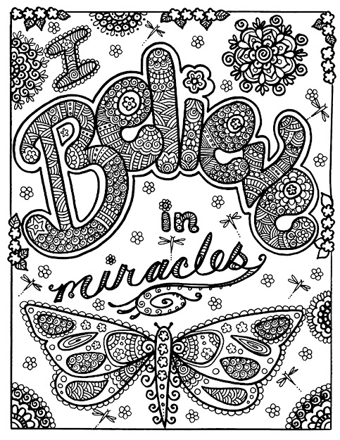 Magnificient Drawing With The Text Believe In Miracles And Beautiful  Butterfly