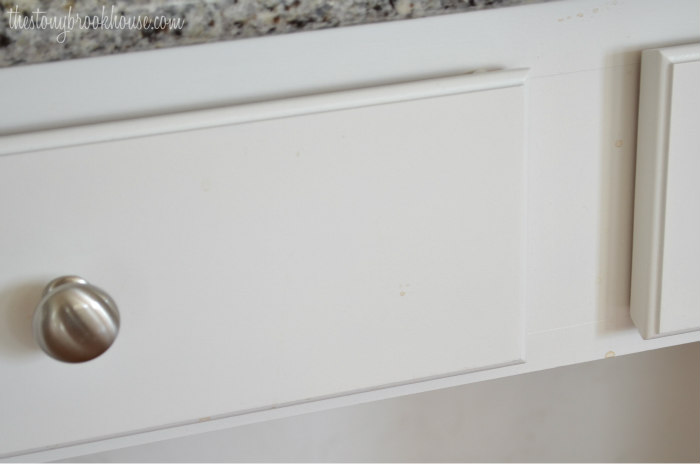 Painted Kitchen Cabinets - see the dirt