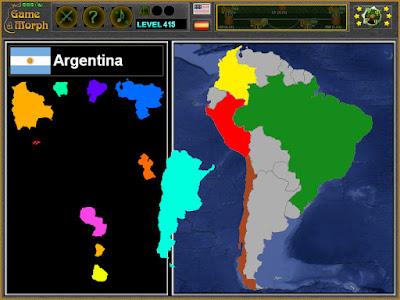 South America Puzzle Screenshot