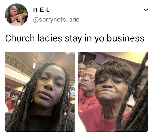 When You Try To Take A Selfie In Church...lol (photo)
