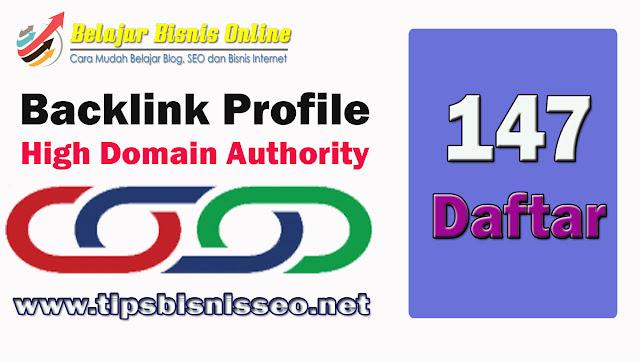 Backlink Profile Berkualitas Tinggi