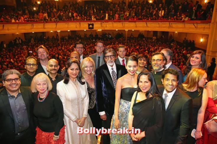 Amitabh Bachchan, Kangana Ranaut, Simi Garewal and Rakeysh Omprakash Mehra, Kangana Ranaut & Amitabh Bachchan at the Indian Film Festival of Melbourne Awards