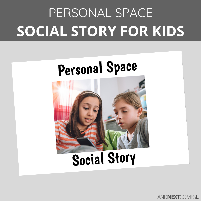 Printable social story for kids with autism about personal space