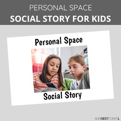 Personal space social story for kids