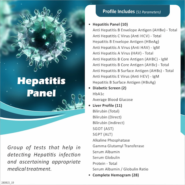 Hepatitis Infection Screening Profile @ Rs 4000 / 51 Tests
