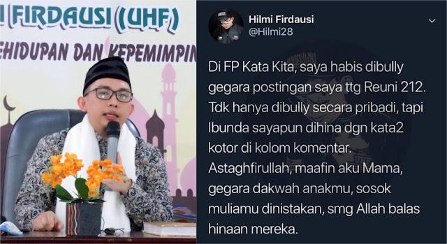 Ibunya Dihina, Ini Respons Mengagumkan Ustadz Hilmi Firdausi