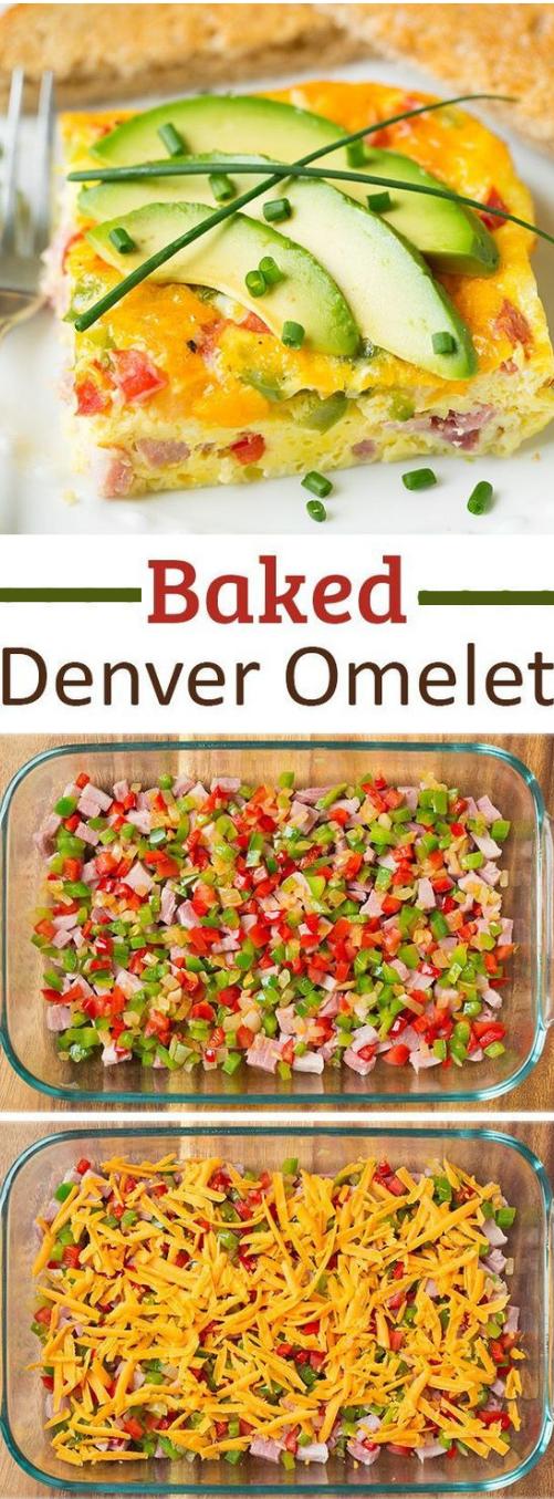 Baked Denver Omelet #omelet #dinner