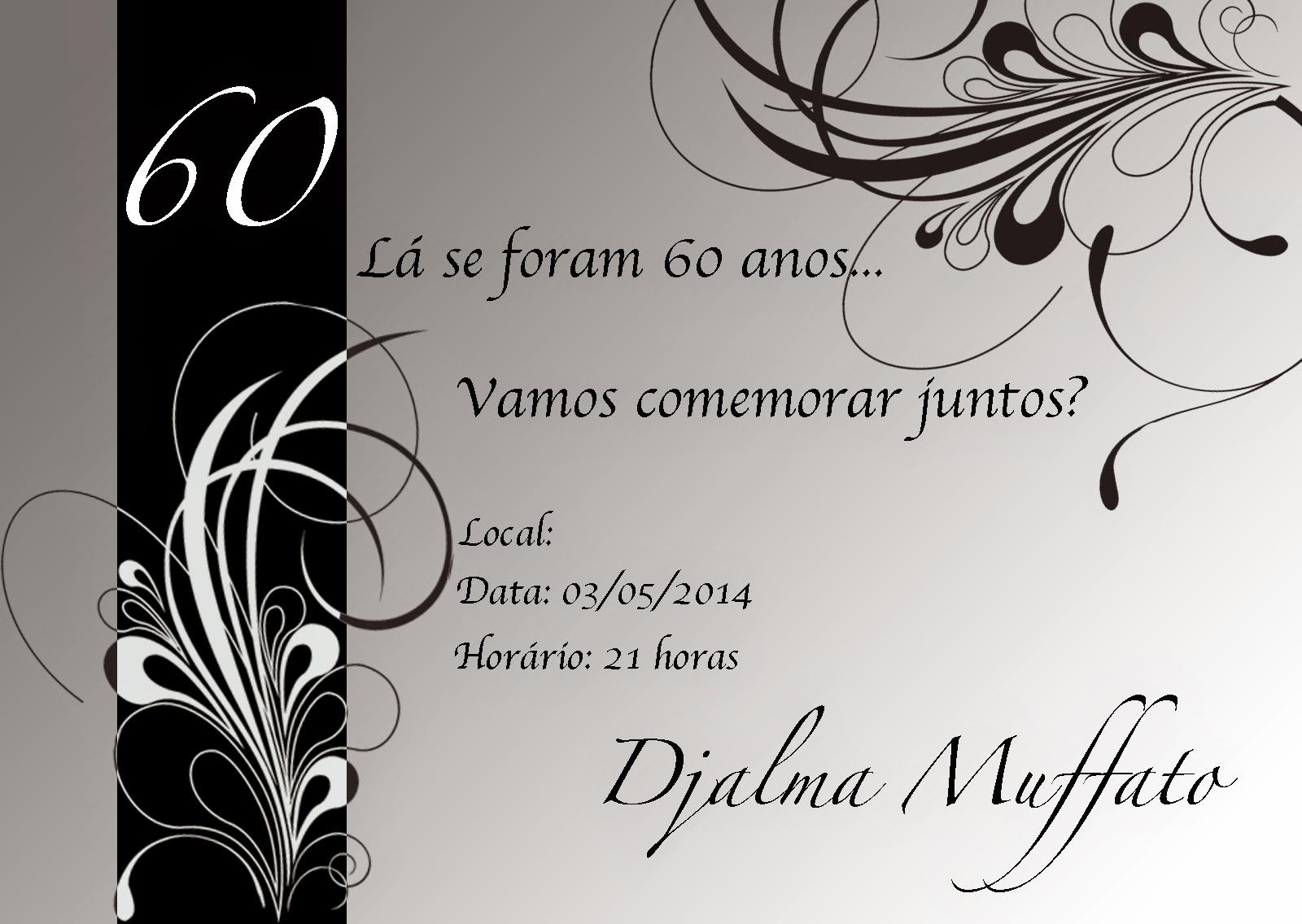Quero Montar Meu Convite De 50 Anos: Nat Na Art: Convite E Encarte De CD
