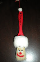 Paintbrush santa ornament