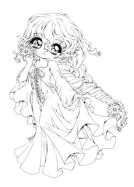 Chibi Ariel Coloring Pages Galleryhip  The Hippest Pics