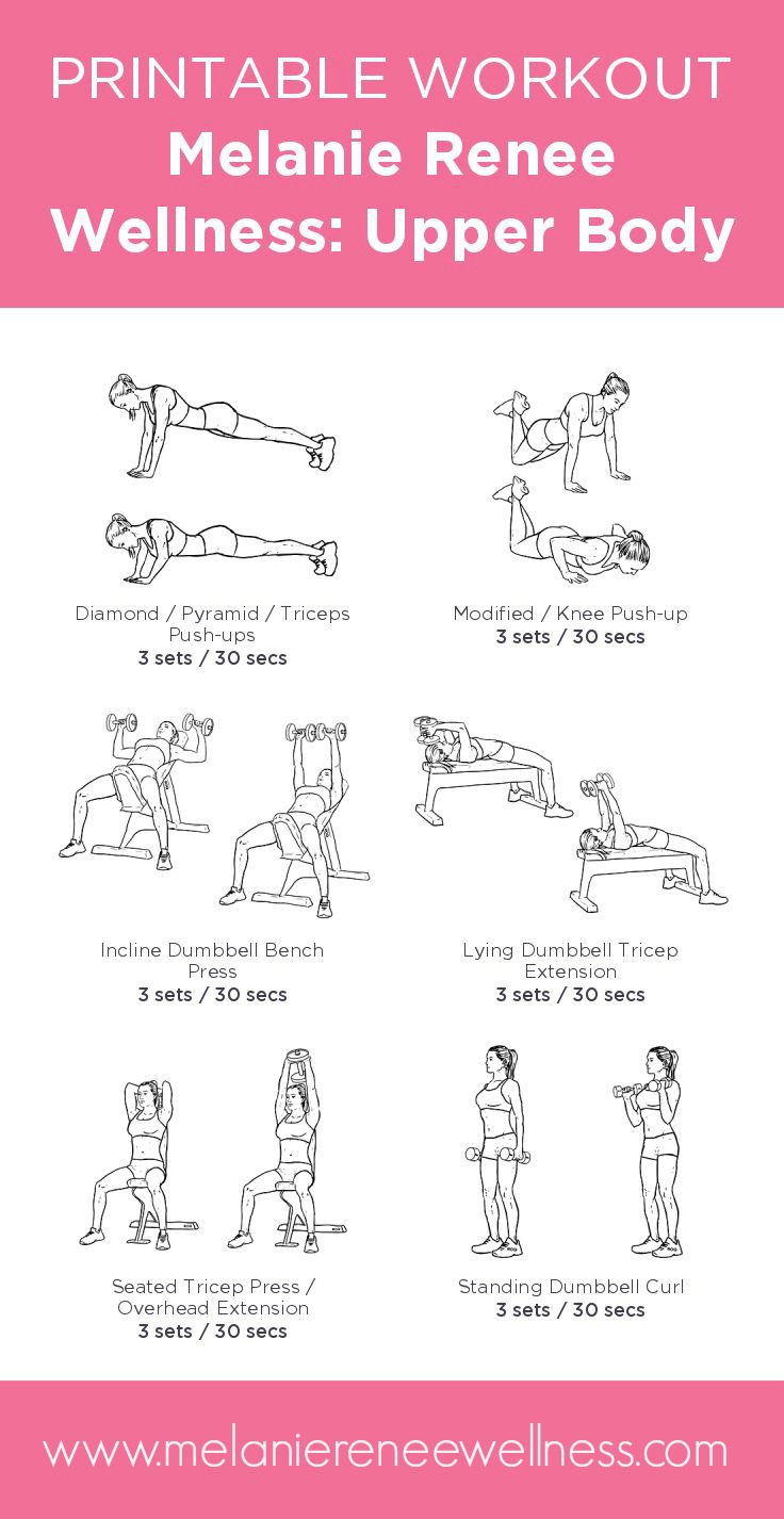 Revered image in printable workouts